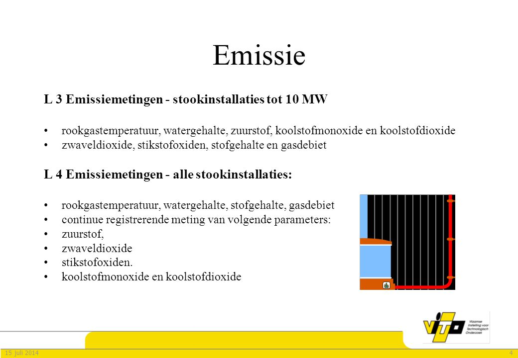 Emissie L 3 Emissiemetingen - stookinstallaties tot 10 MW