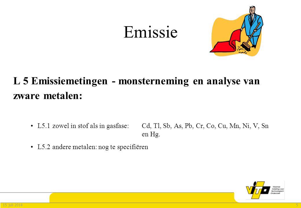 Emissie L 5 Emissiemetingen - monsterneming en analyse van zware metalen: