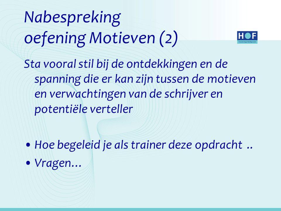 Nabespreking oefening Motieven (2)