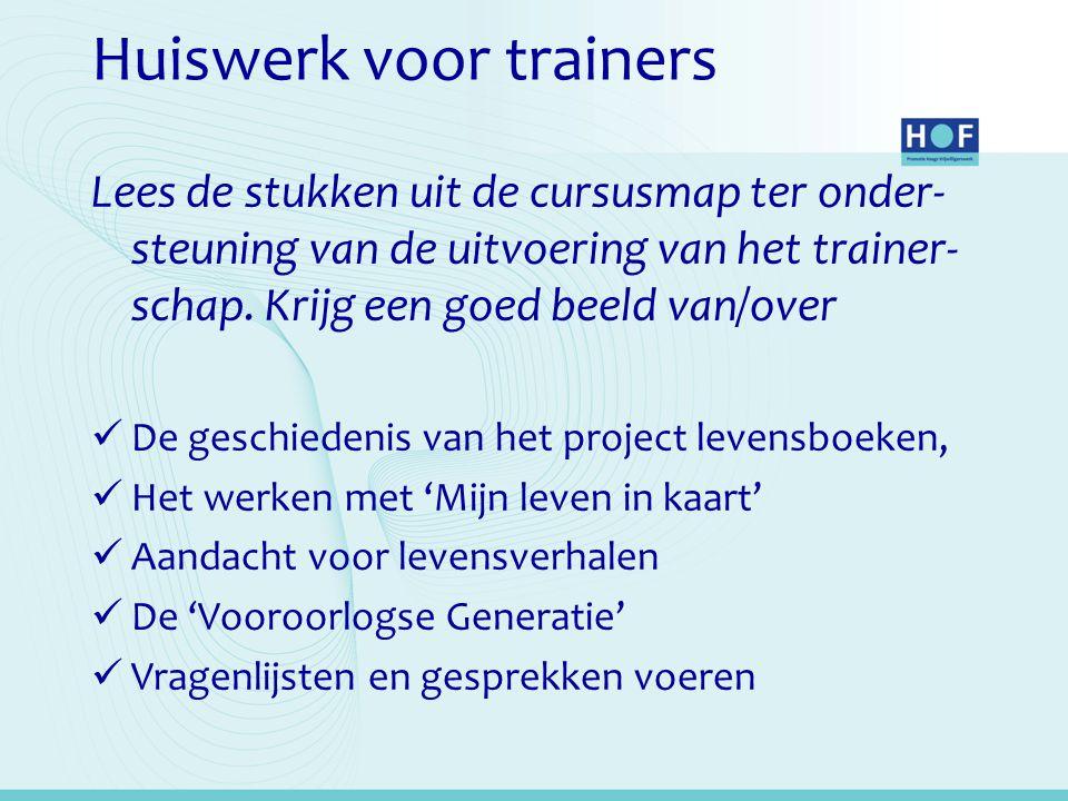 Huiswerk voor trainers