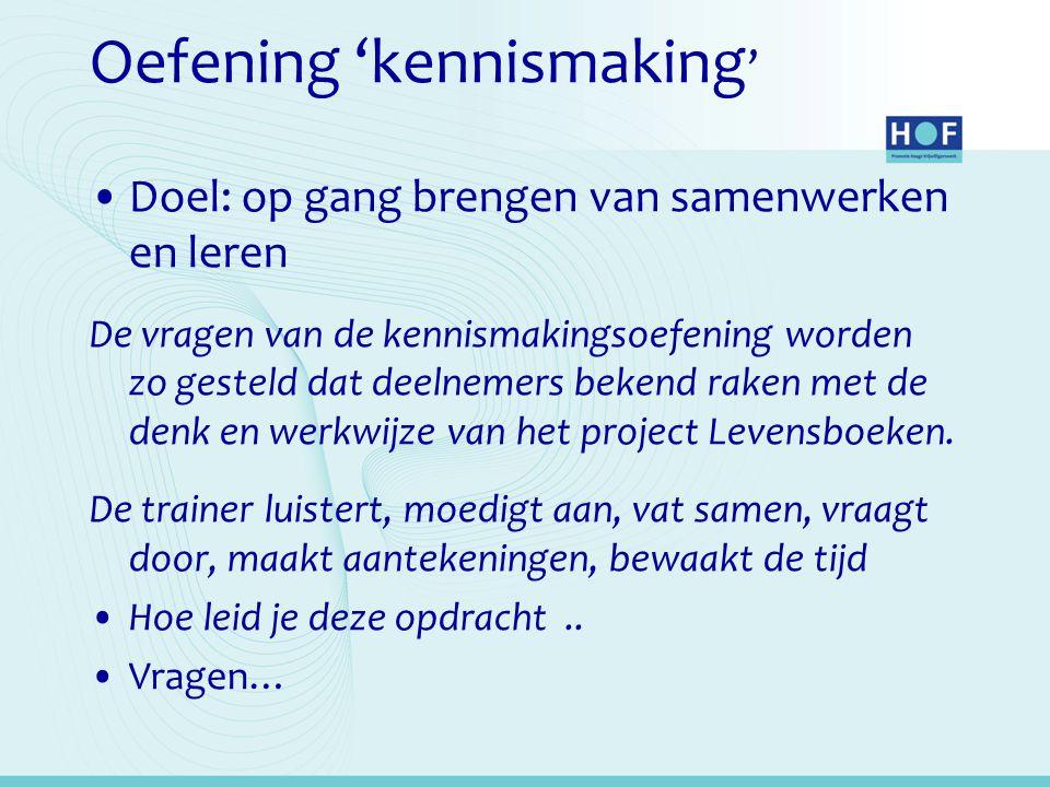 Oefening 'kennismaking'