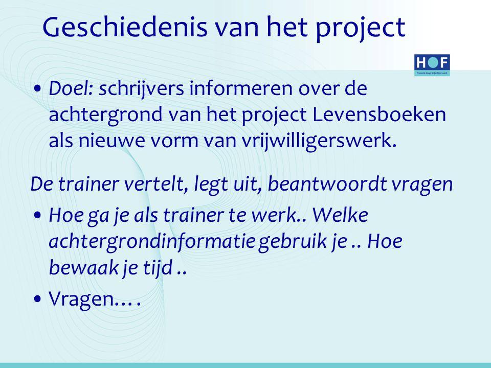 Geschiedenis van het project