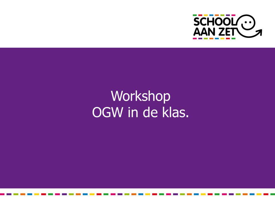 Workshop OGW in de klas.