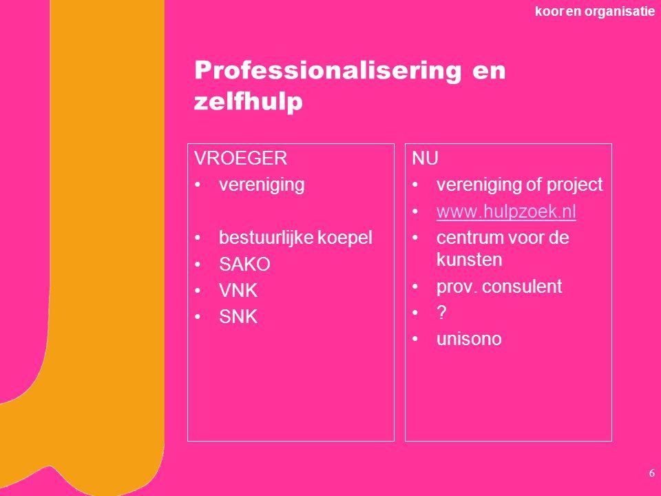 Professionalisering en zelfhulp