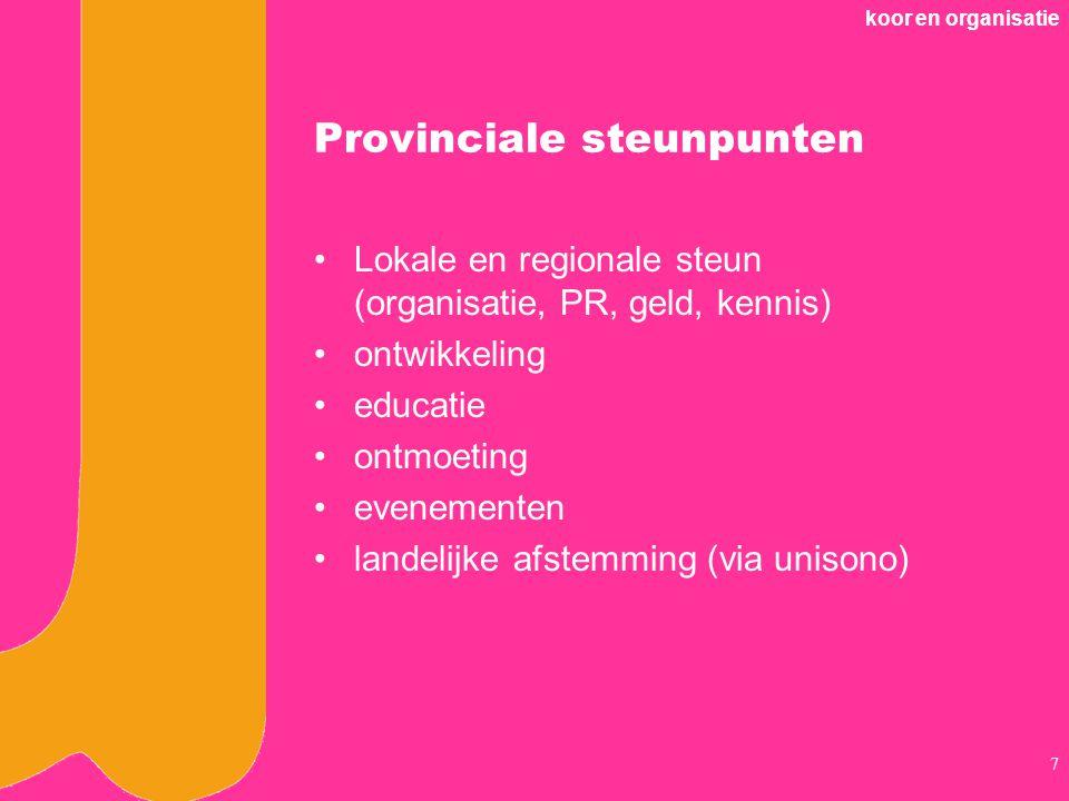 Provinciale steunpunten
