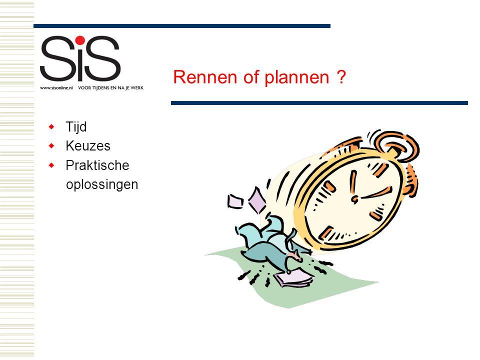 Rennen of plannen Tijd Keuzes Praktische oplossingen