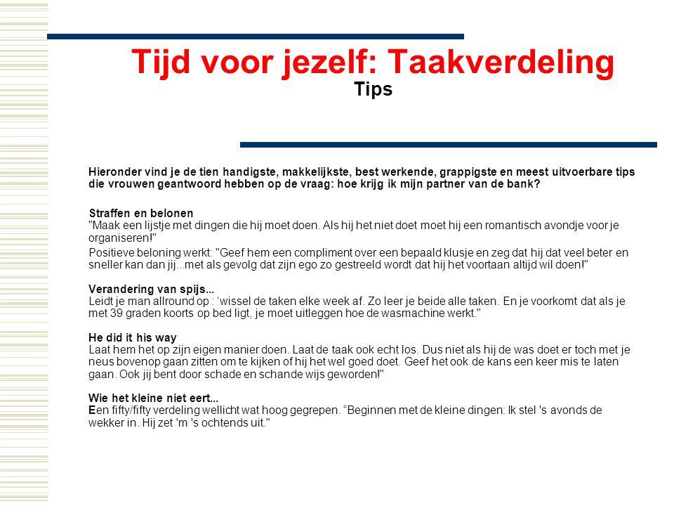 Tijd voor jezelf: Taakverdeling Tips