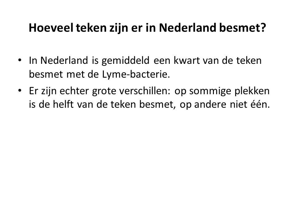 Hoeveel teken zijn er in Nederland besmet