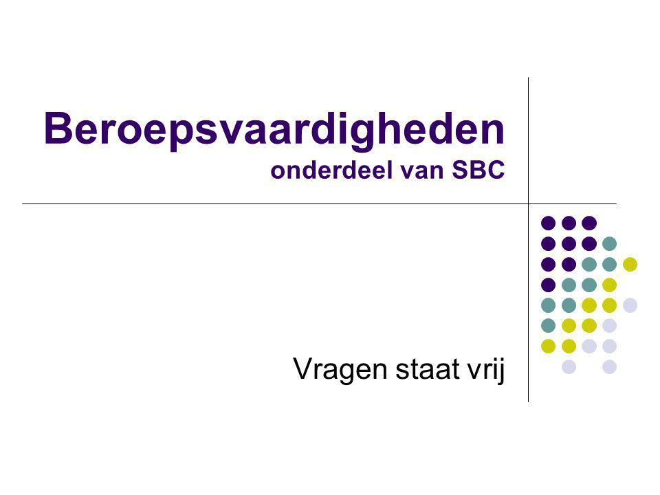 Beroepsvaardigheden onderdeel van SBC