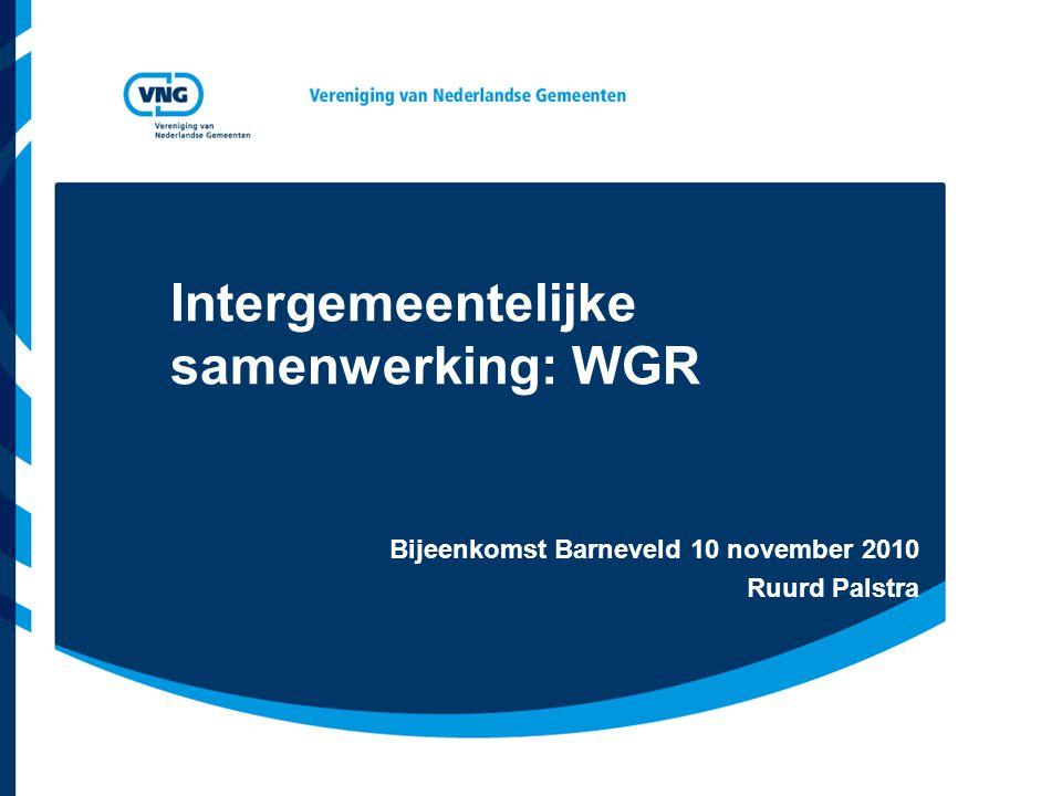 Intergemeentelijke samenwerking: WGR
