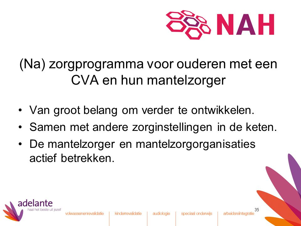 (Na) zorgprogramma voor ouderen met een CVA en hun mantelzorger