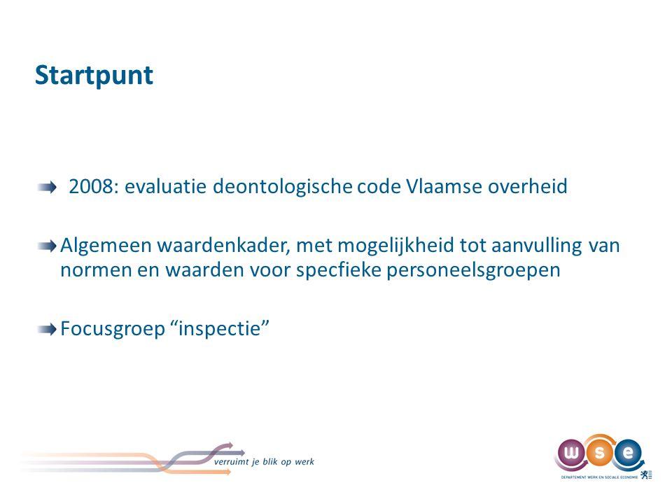 Traject Oprichting interne werkgroep binnen Inspectie Werk en Sociale Economie.