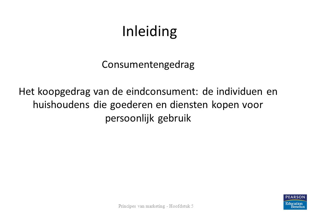 Principes van marketing - Hoofdstuk 5