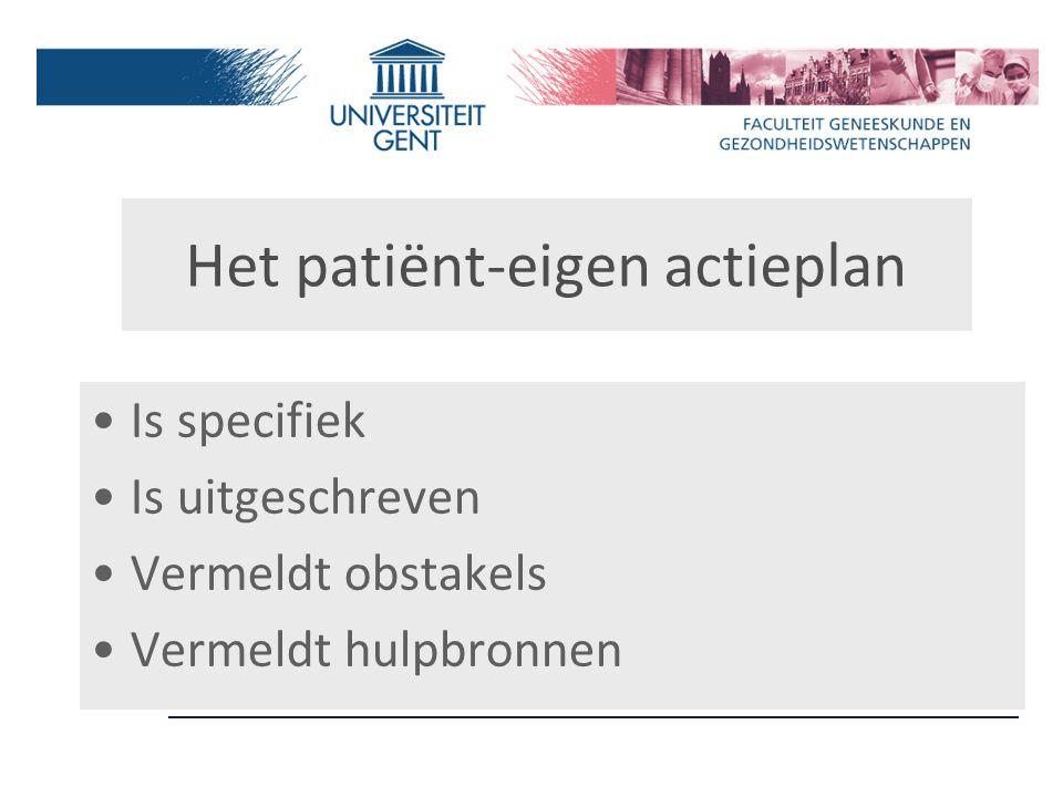 Het patiënt-eigen actieplan