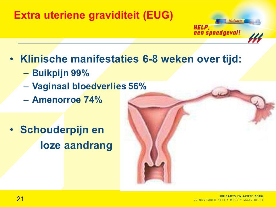 Extra uteriene graviditeit (EUG)