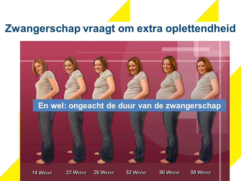 Zwangerschap vraagt om extra oplettendheid