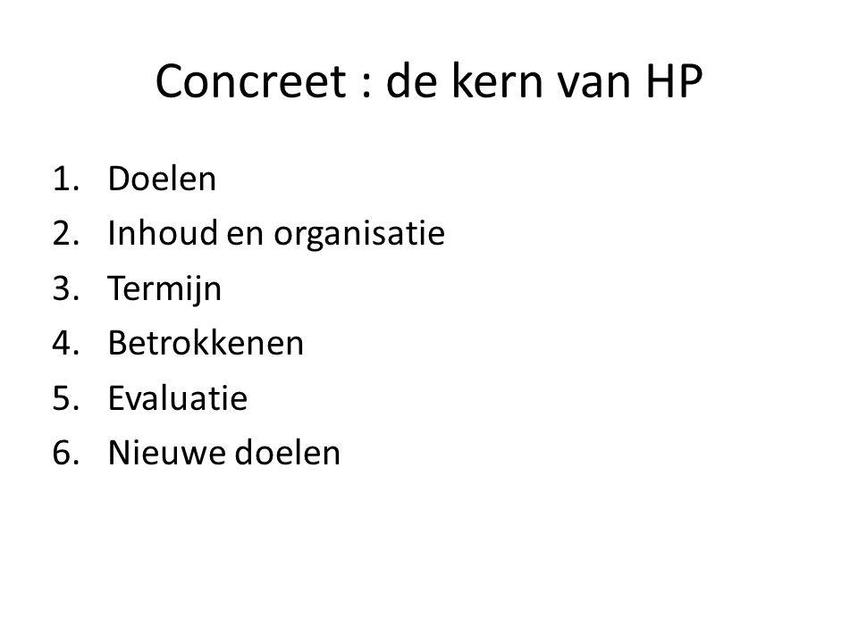 Concreet : de kern van HP