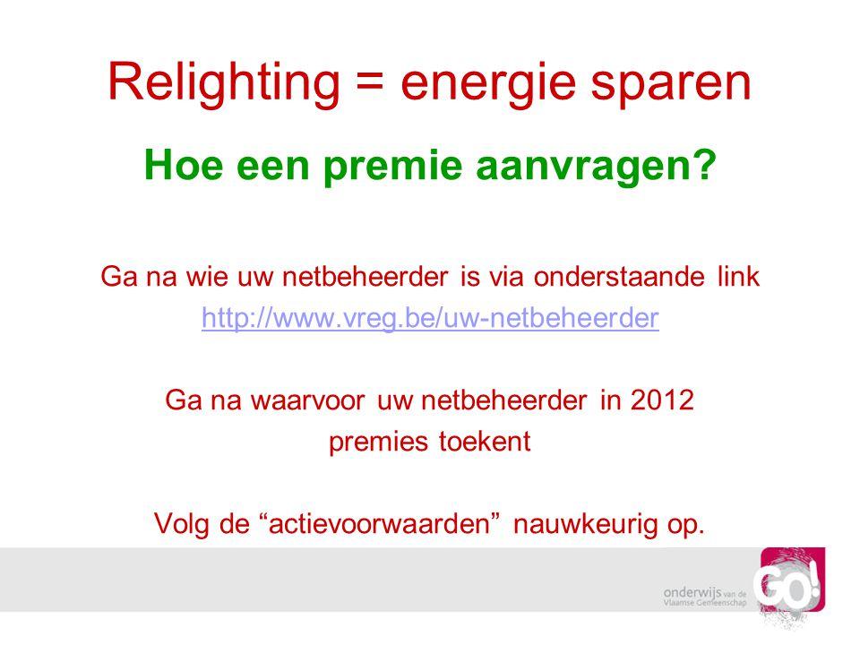 Relighting = energie sparen
