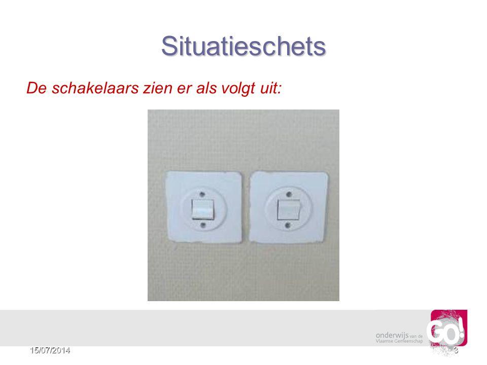 Situatieschets De schakelaars zien er als volgt uit: 4/04/2017