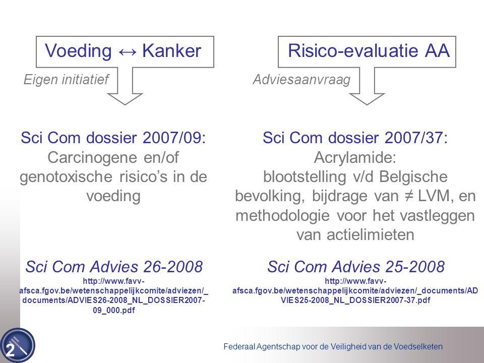 Voeding ↔ Kanker Risico-evaluatie AA Sci Com dossier 2007/09: