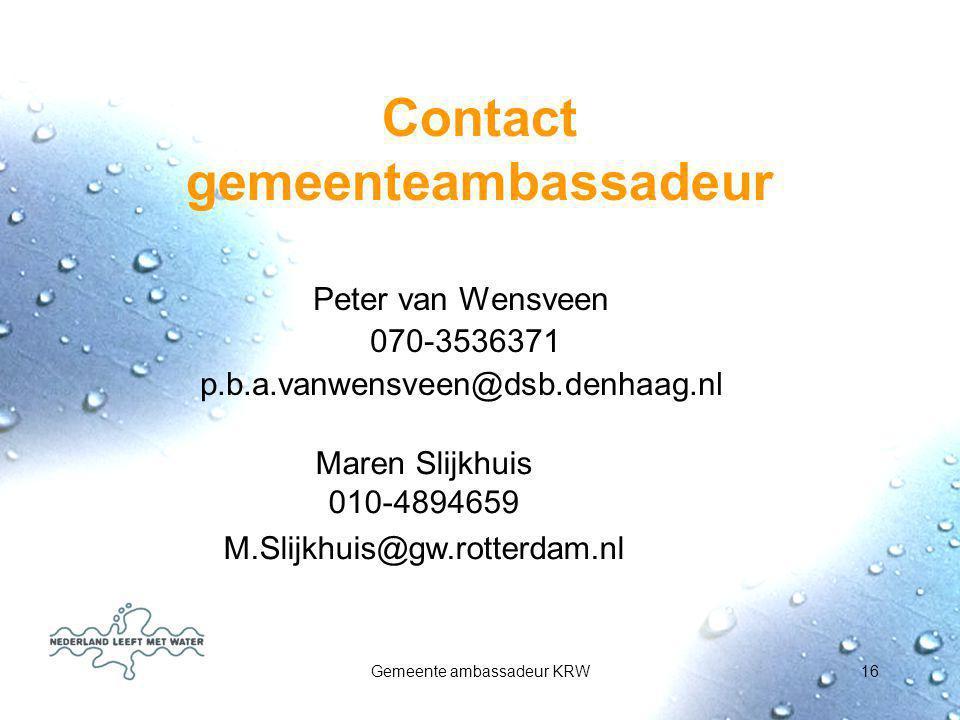 Contact gemeenteambassadeur