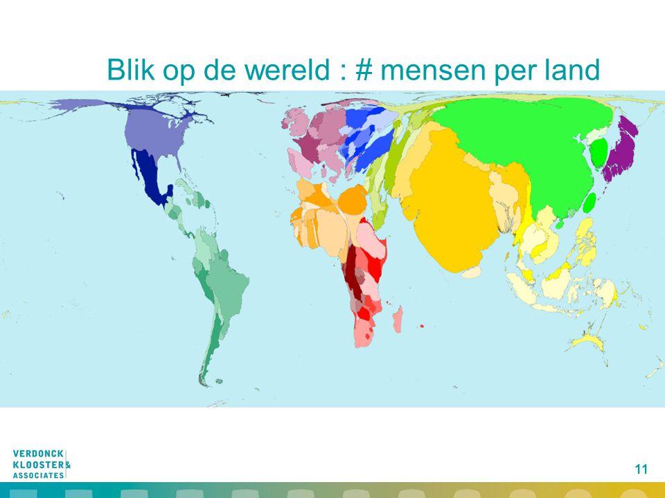Blik op de wereld : # mensen per land