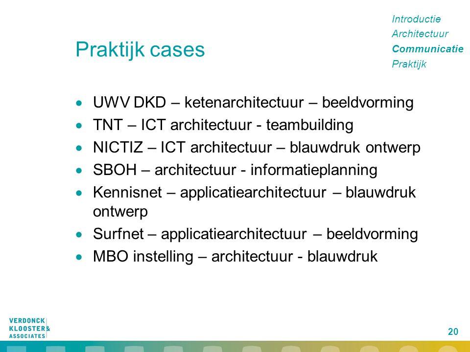 Praktijk cases UWV DKD – ketenarchitectuur – beeldvorming
