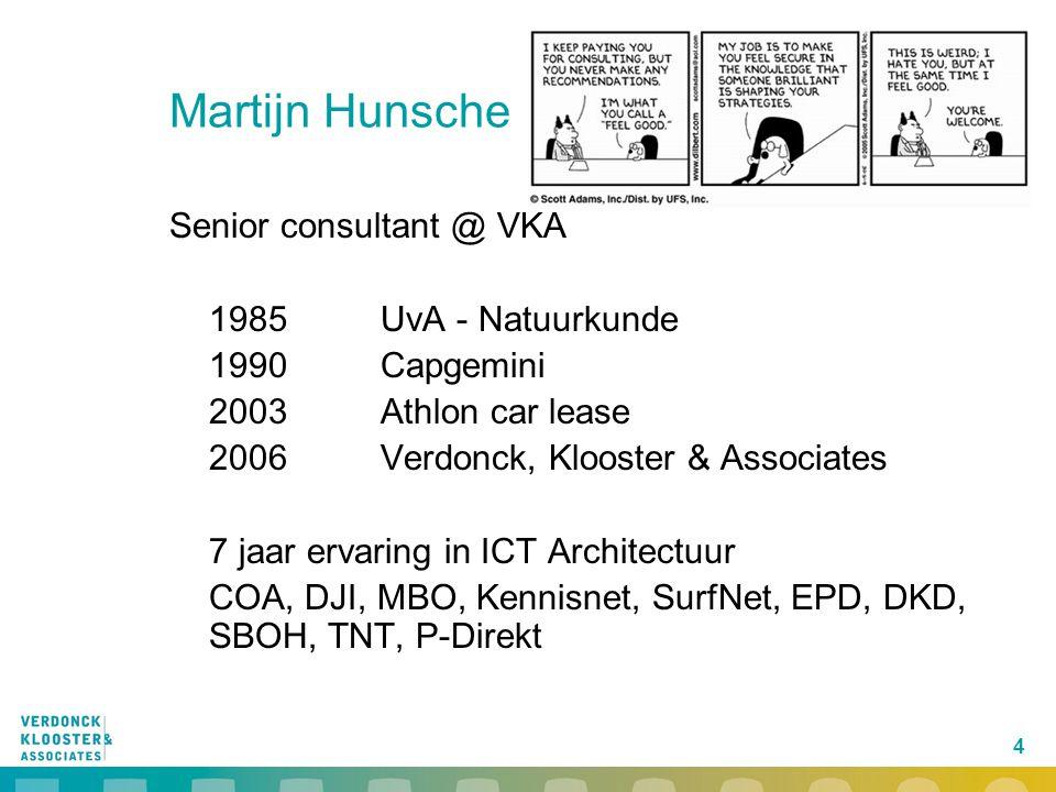 Martijn Hunsche Senior consultant @ VKA 1985 UvA - Natuurkunde