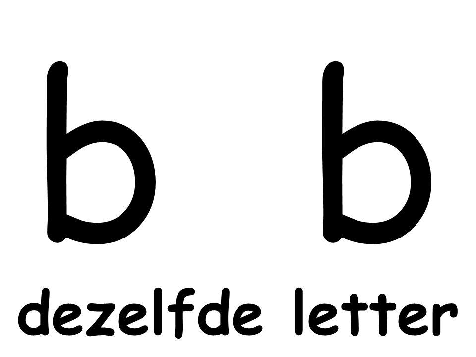b b dezelfde letter