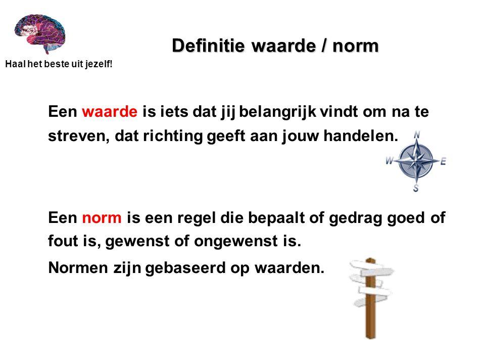 Definitie waarde / norm