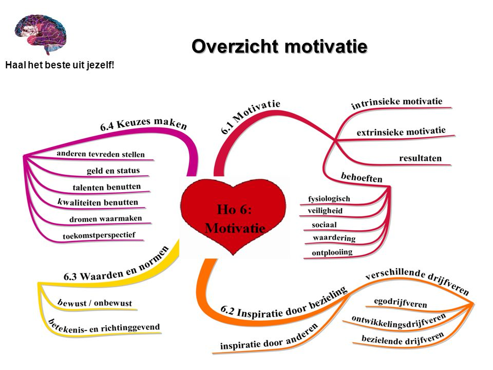 Overzicht motivatie