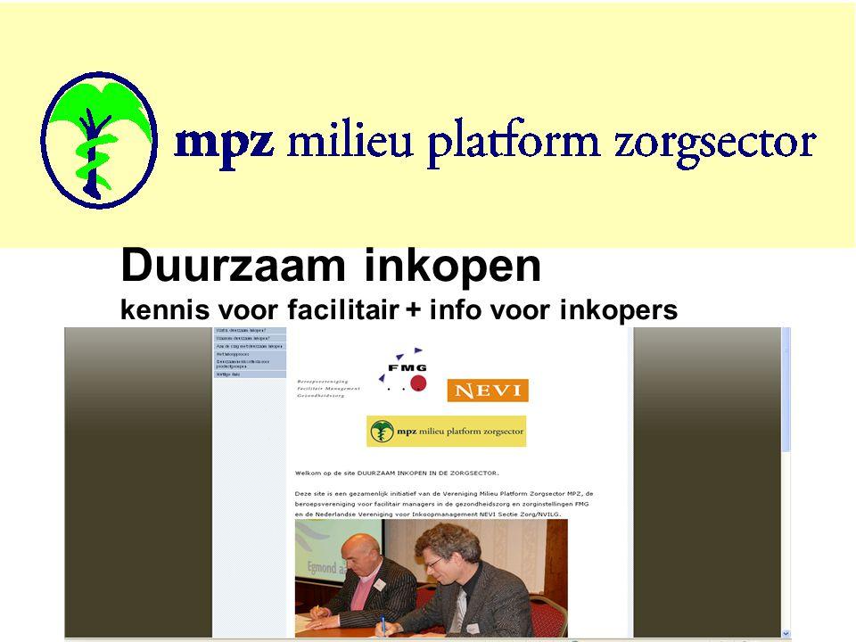 Duurzaam inkopen kennis voor facilitair + info voor inkopers
