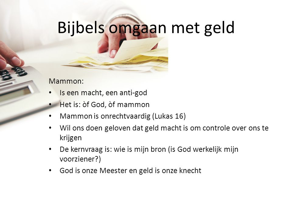 Bijbels omgaan met geld