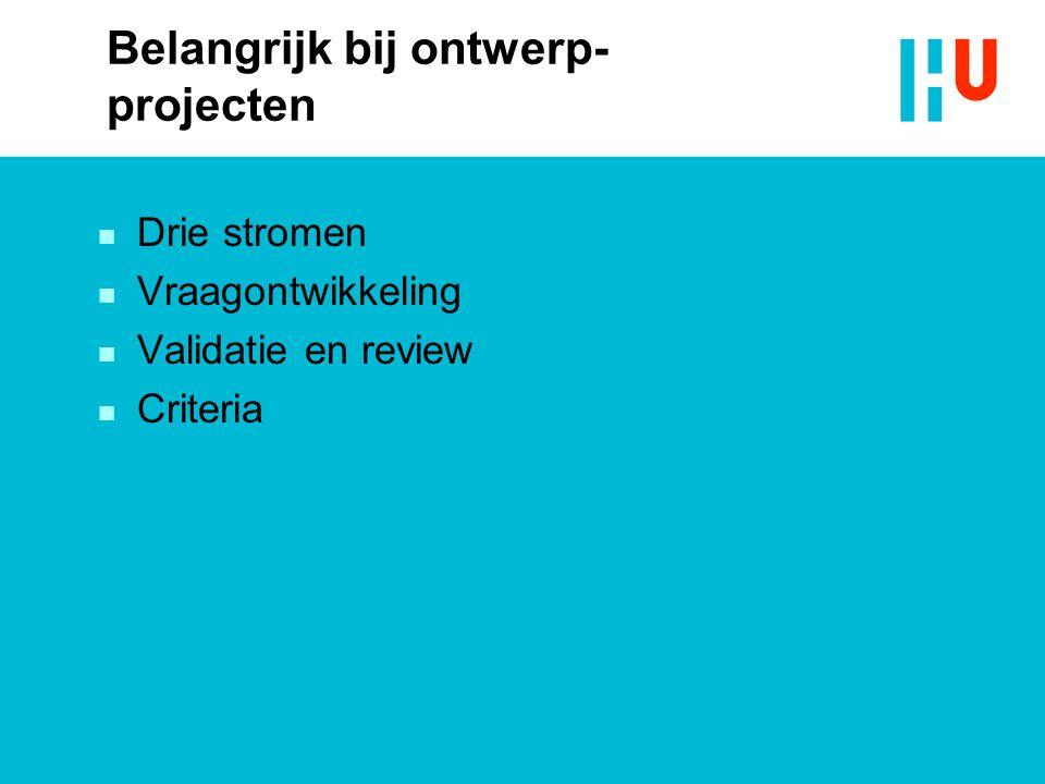 Belangrijk bij ontwerp-projecten