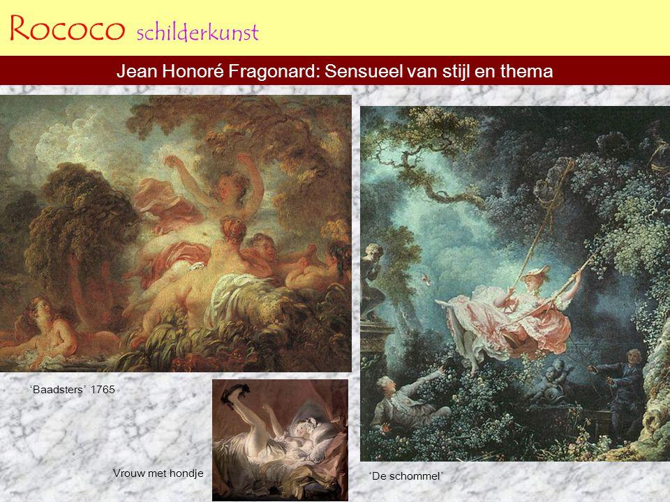Jean Honoré Fragonard: Sensueel van stijl en thema