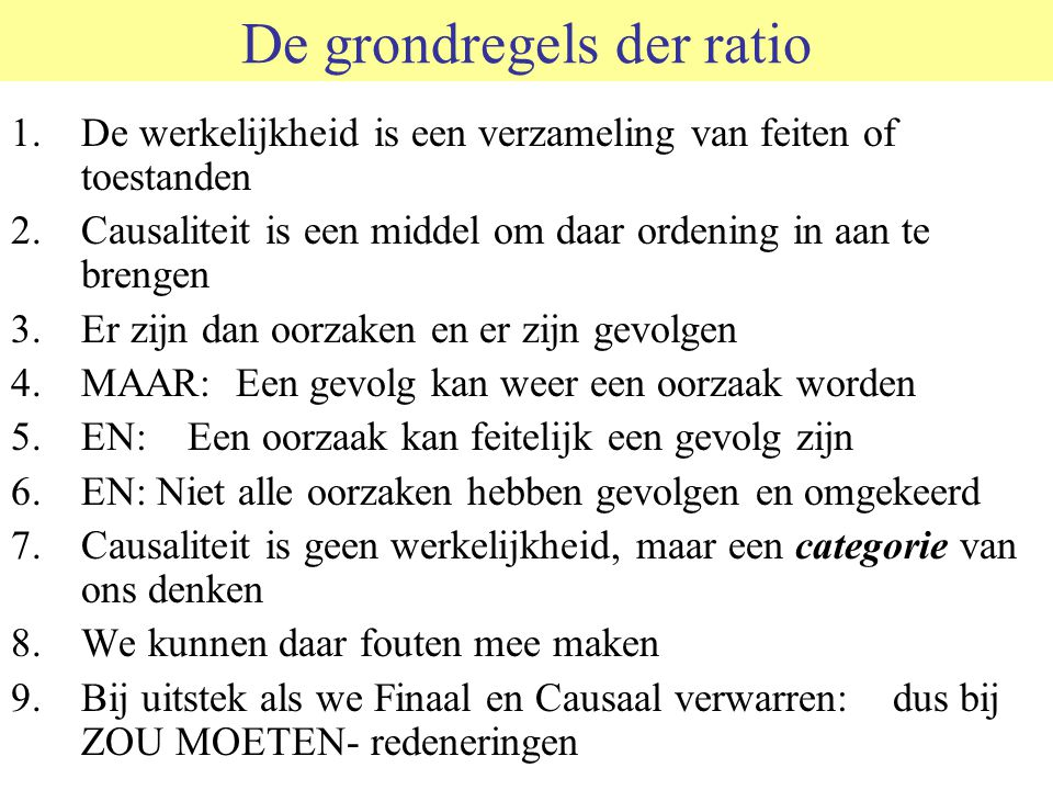 De grondregels der ratio