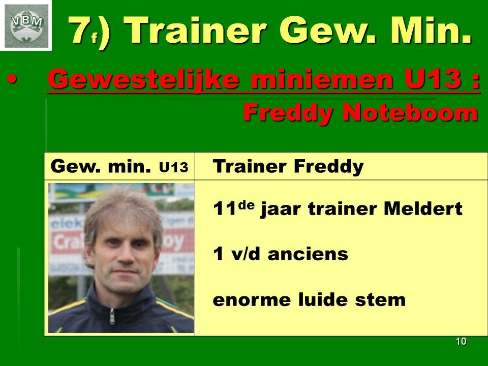 7f) Trainer Gew. Min. Gewestelijke miniemen U13 : Freddy Noteboom