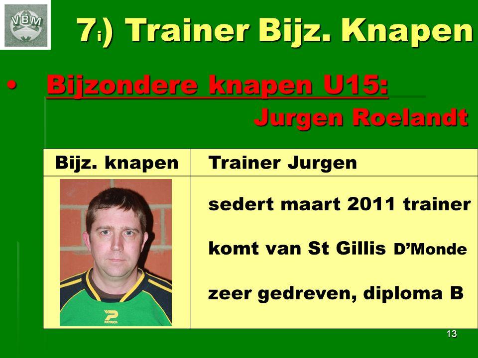 7i) Trainer Bijz. Knapen Bijzondere knapen U15: Jurgen Roelandt