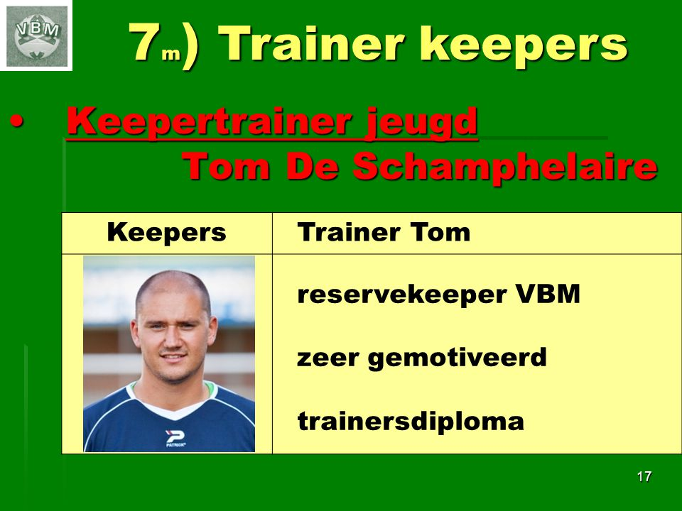 7m) Trainer keepers Keepertrainer jeugd Tom De Schamphelaire Keepers