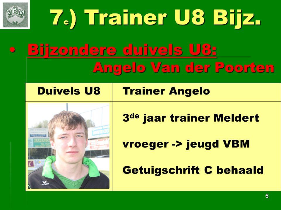 7c) Trainer U8 Bijz. Bijzondere duivels U8: Angelo Van der Poorten