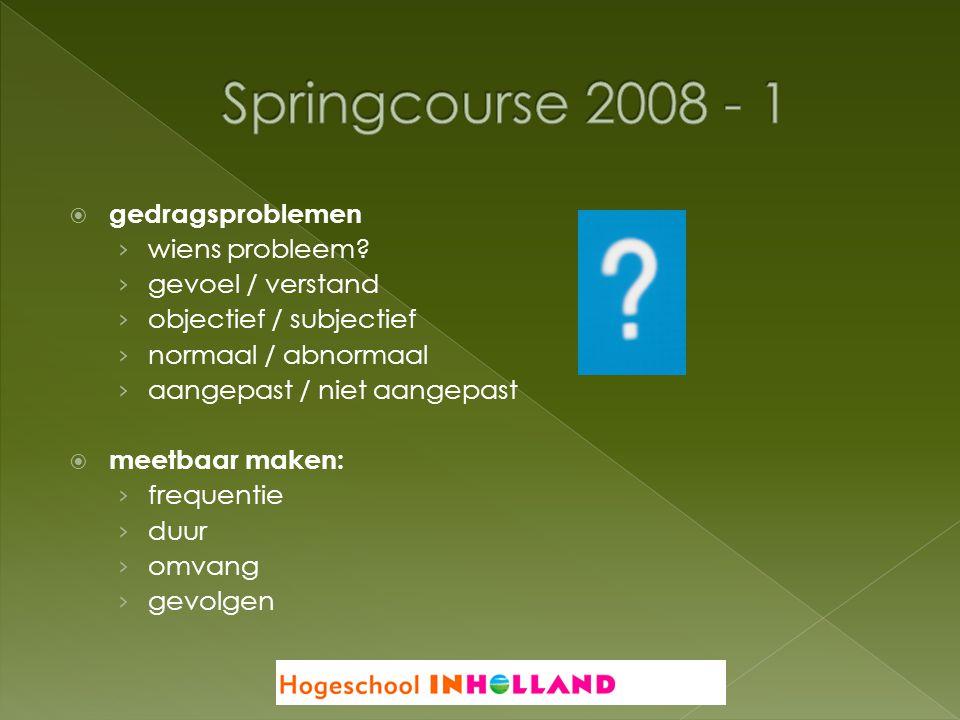 Springcourse 2008 - 1 gedragsproblemen wiens probleem