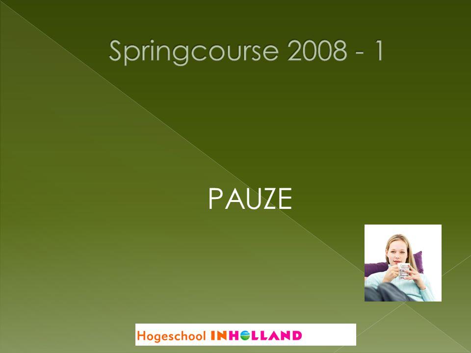 Springcourse 2008 - 1 PAUZE