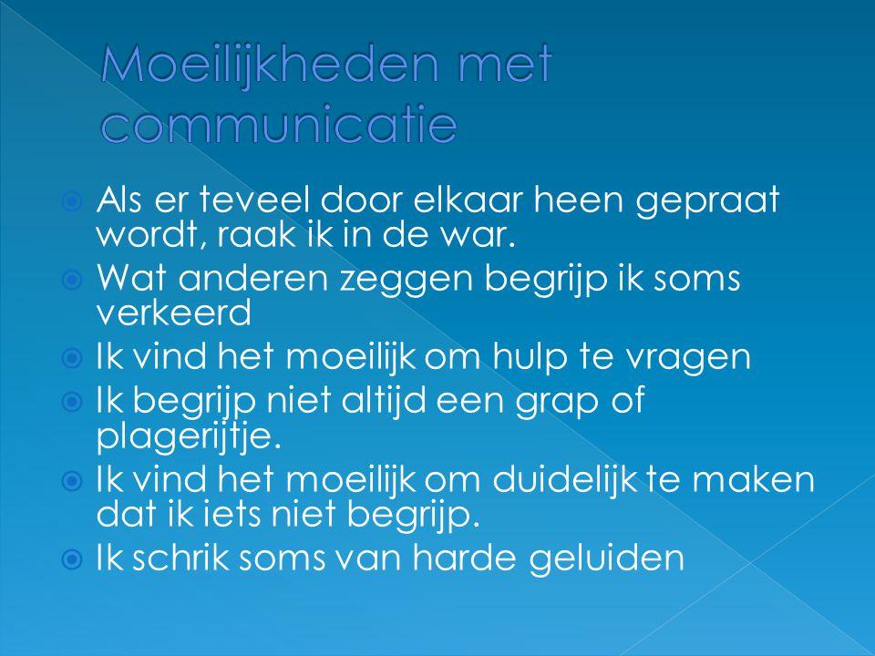 Moeilijkheden met communicatie