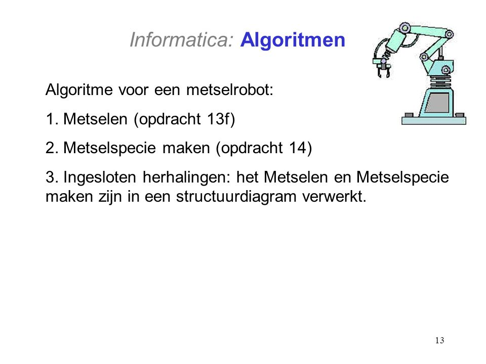 Informatica: Algoritmen