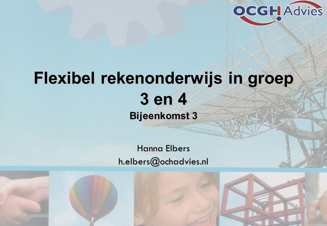 Flexibel rekenonderwijs in groep 3 en 4 Bijeenkomst 3