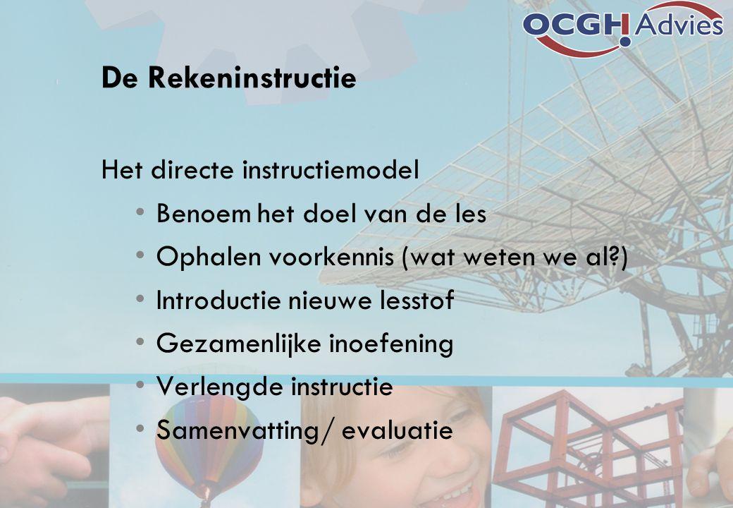 De Rekeninstructie Het directe instructiemodel