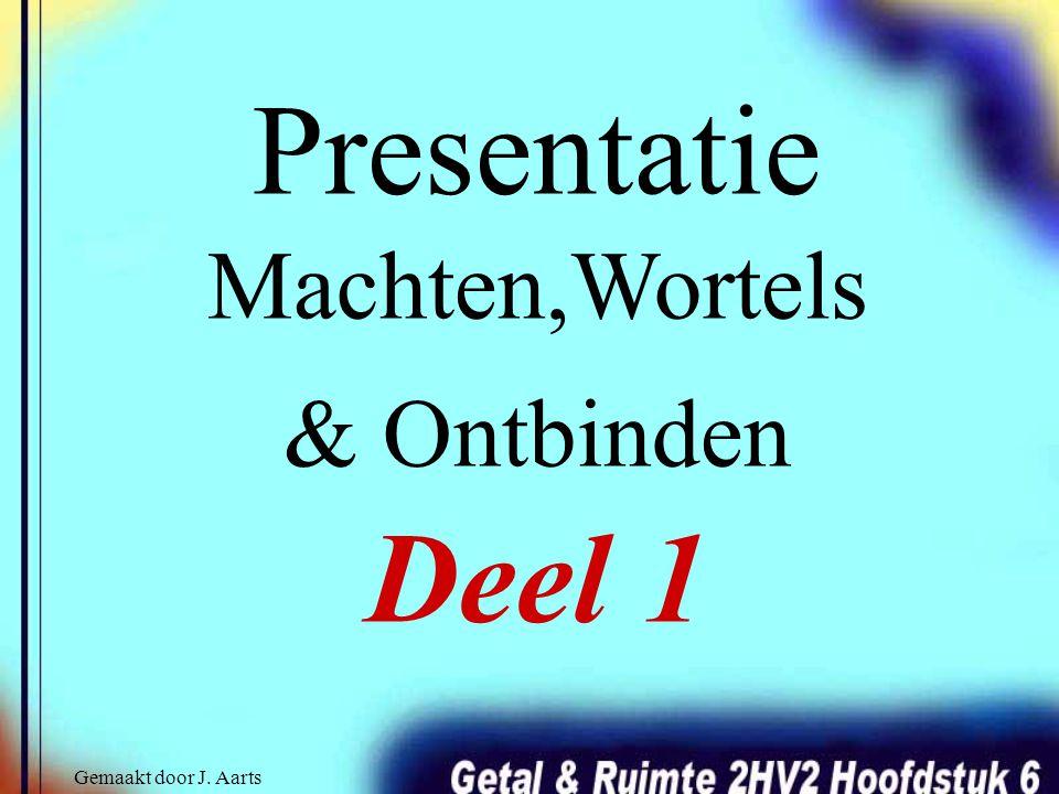 Presentatie Machten,Wortels & Ontbinden Deel 1