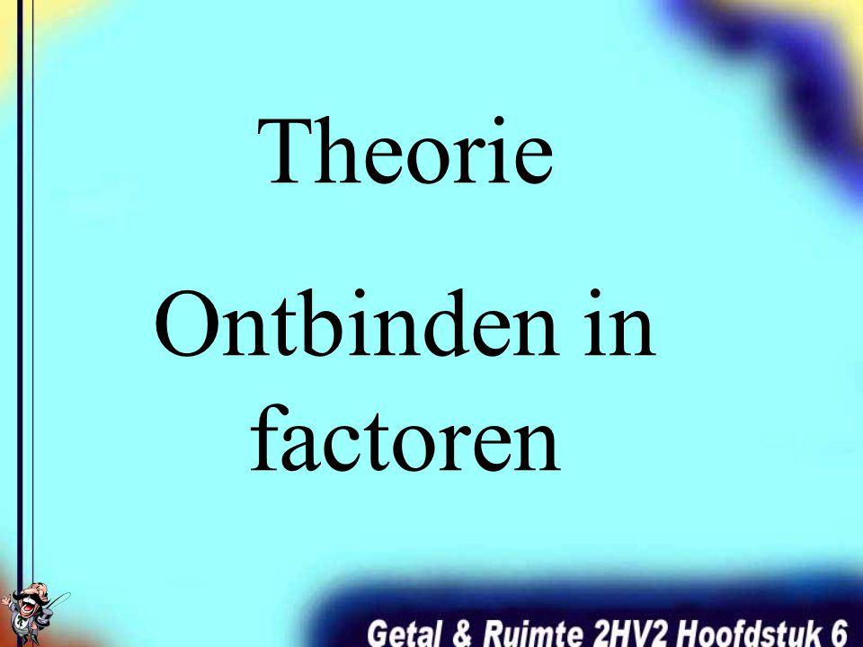Theorie Ontbinden in factoren