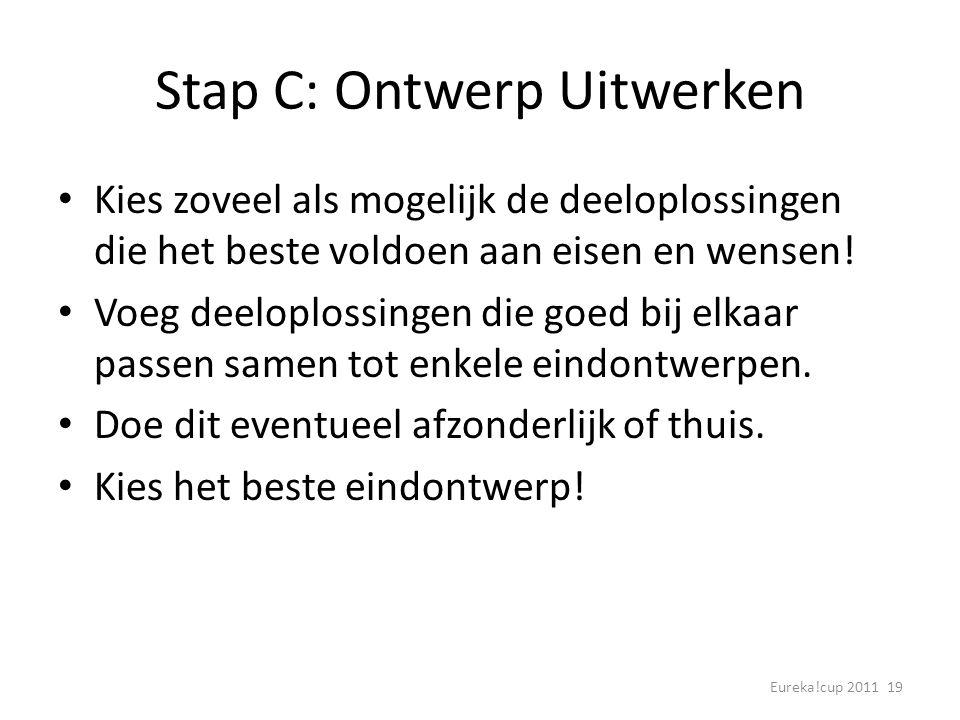 Stap C: Ontwerp Uitwerken