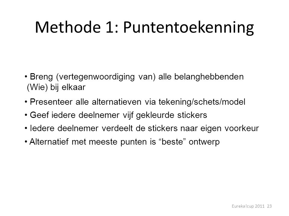 Methode 1: Puntentoekenning